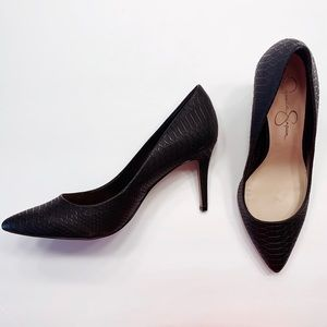 Jessica Simpson Snake Print Pointed Toe Pumps